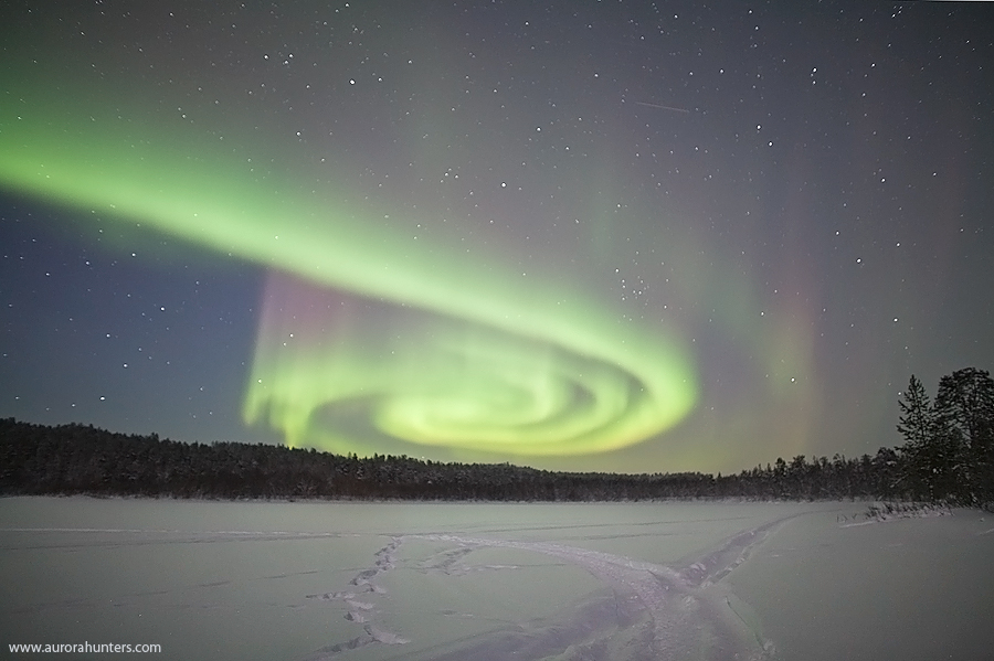 Aurora Spiral in Lapland