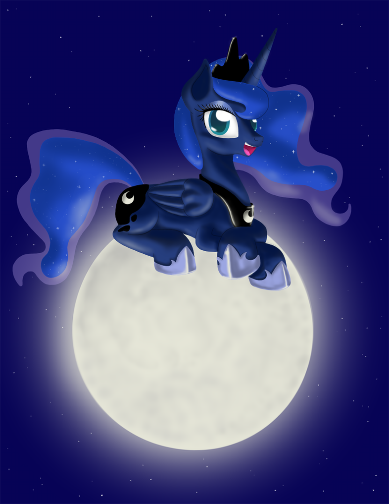 Luna on The Moon by Sakaerion