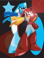 Protoman Poster by Atashi-Cloud