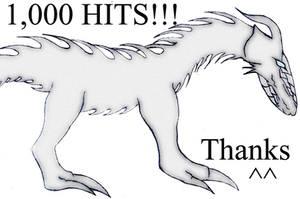 1,000 hits Dragon Atashi by Atashi-Cloud
