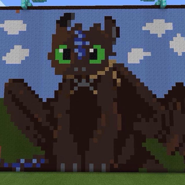 Toothless The Dragon PixelArt By RRainbowDashiee ...