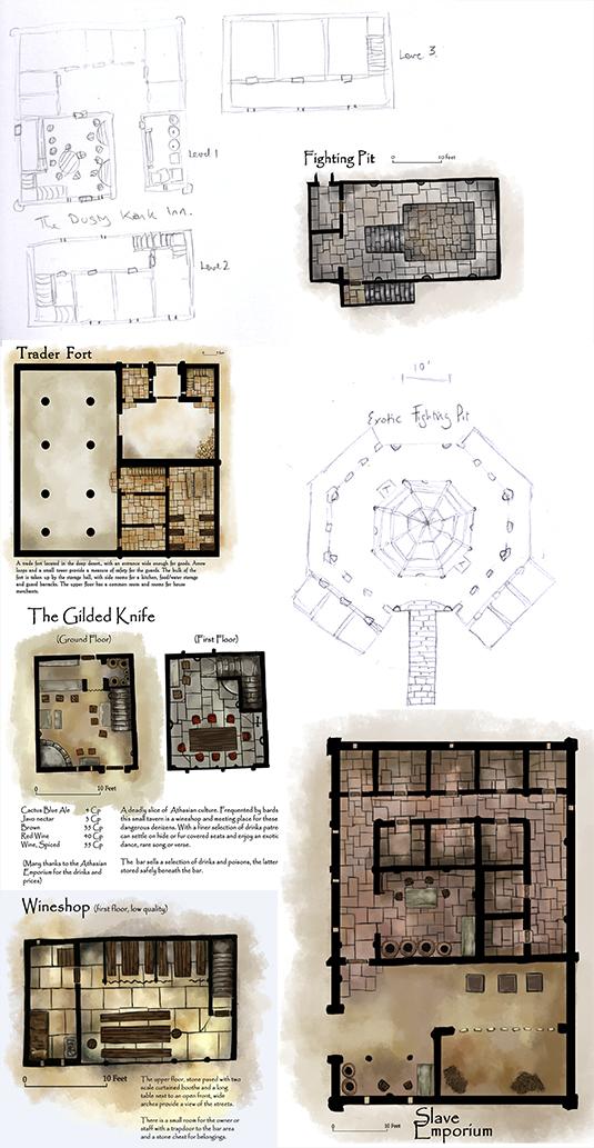 RPG Floor Plan examples by Seraph777