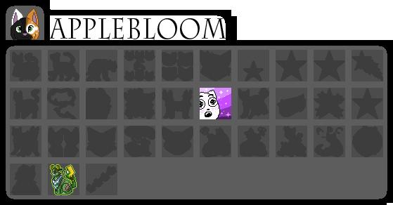 [wb]Applebloom badges by millemusen