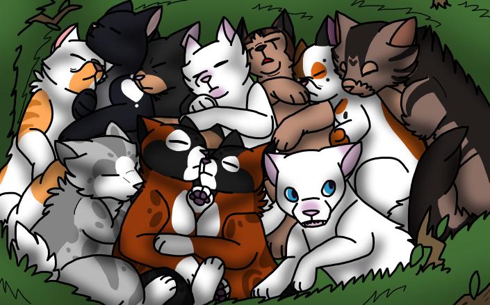 [wb]Kitten Nest Pile by millemusen