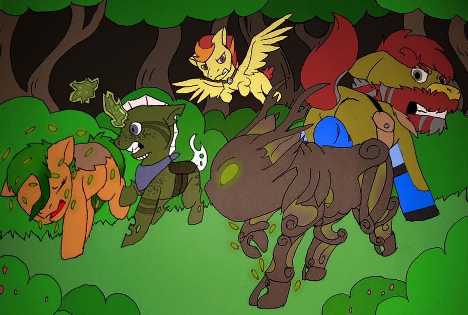Spriggan Battle by millemusen