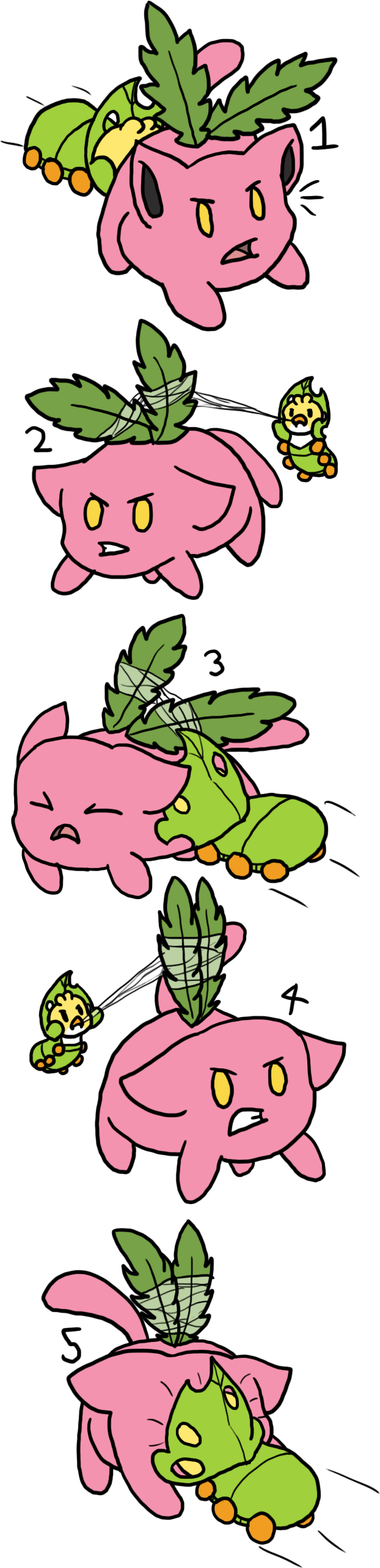 [TP]Hoppip Harrassment by millemusen