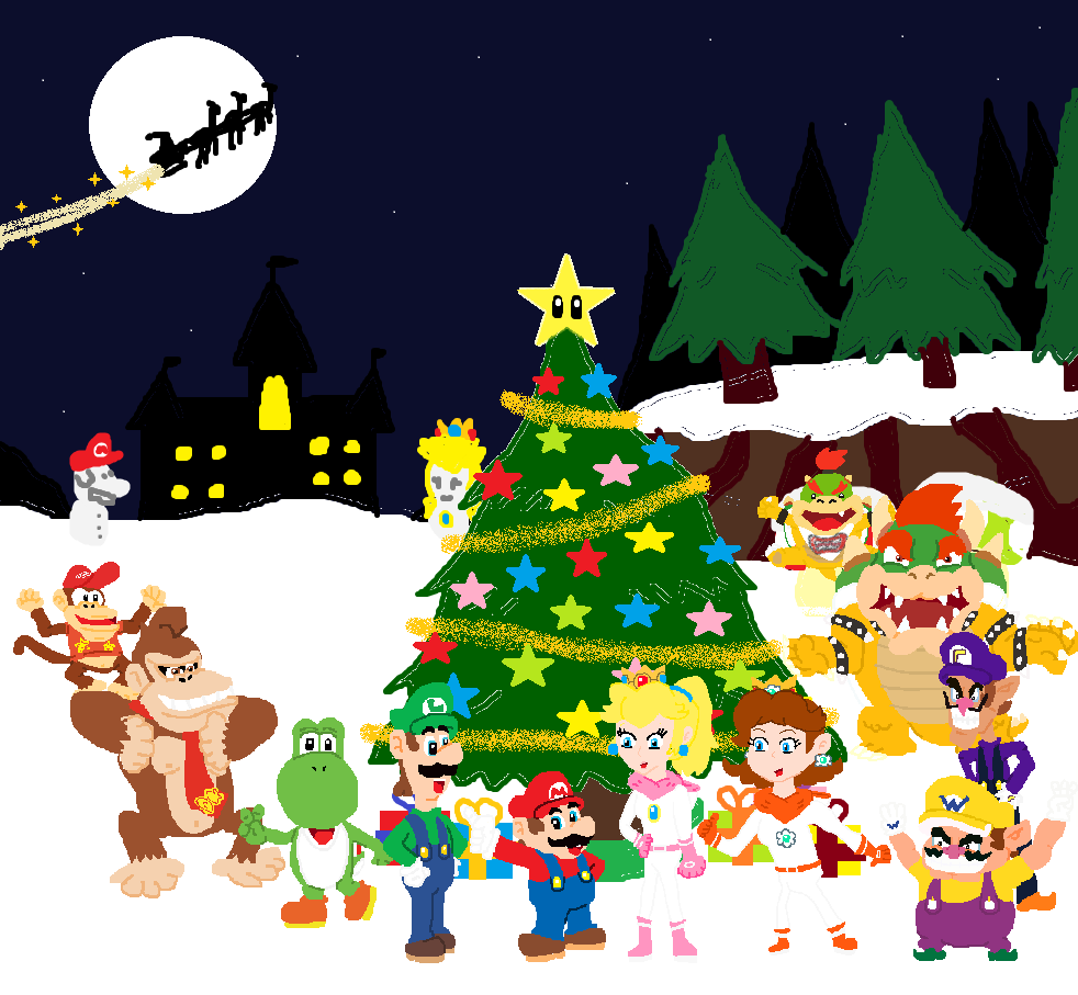 Super Mario Christmas.Super Mario Christmas Celebration 2015 By Sergi1995 On