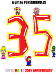 Captain Toad and Toadette Mario 35th Anniversary