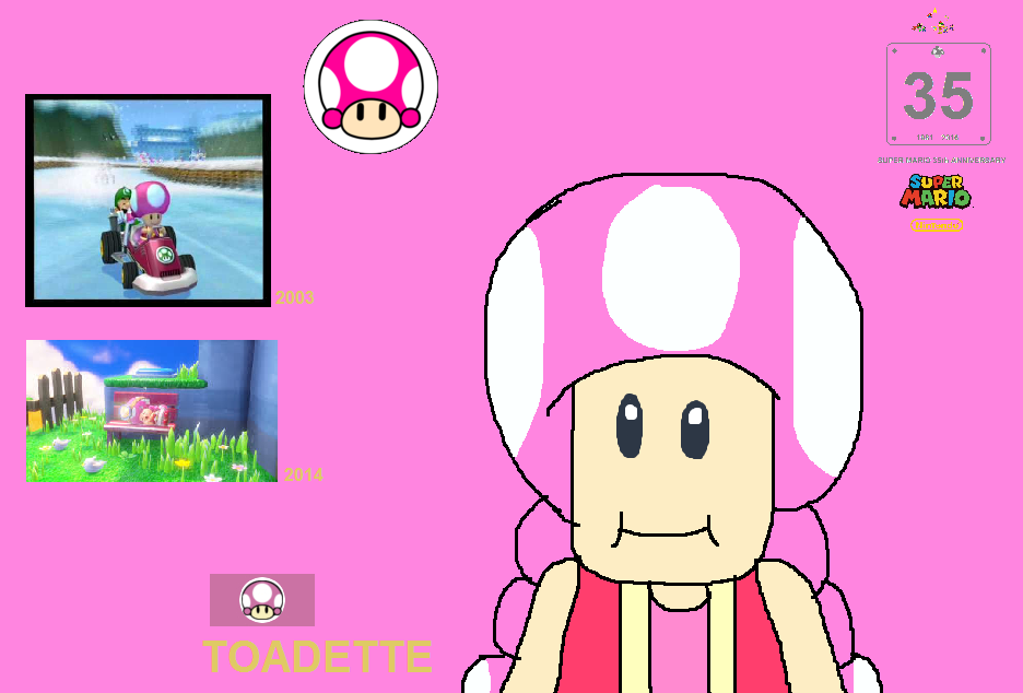 Toadette Super Mario 35th Anniversary Wallpaper by ...