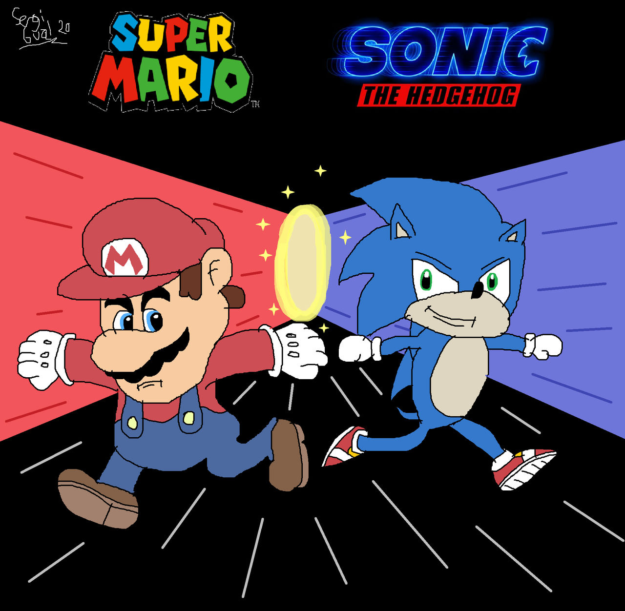 Super Mario And Sonic The Hedgehog 2020 Poster By Sergi1995 On Deviantart