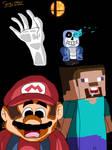 Mario and Steve go to Smash Bros. by sergi1995