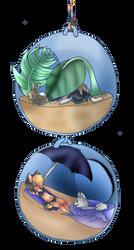 Random art with Older Nikki and Pandora by TribalaKihara