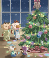 Olimar Family Christmas by FosterEmblem