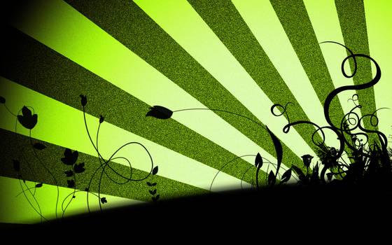 Vector Flowers Green