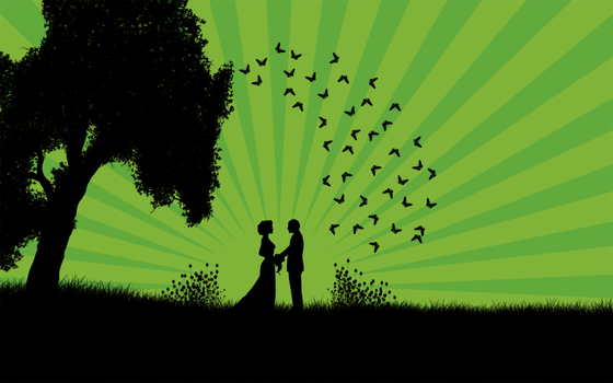Just Married Green