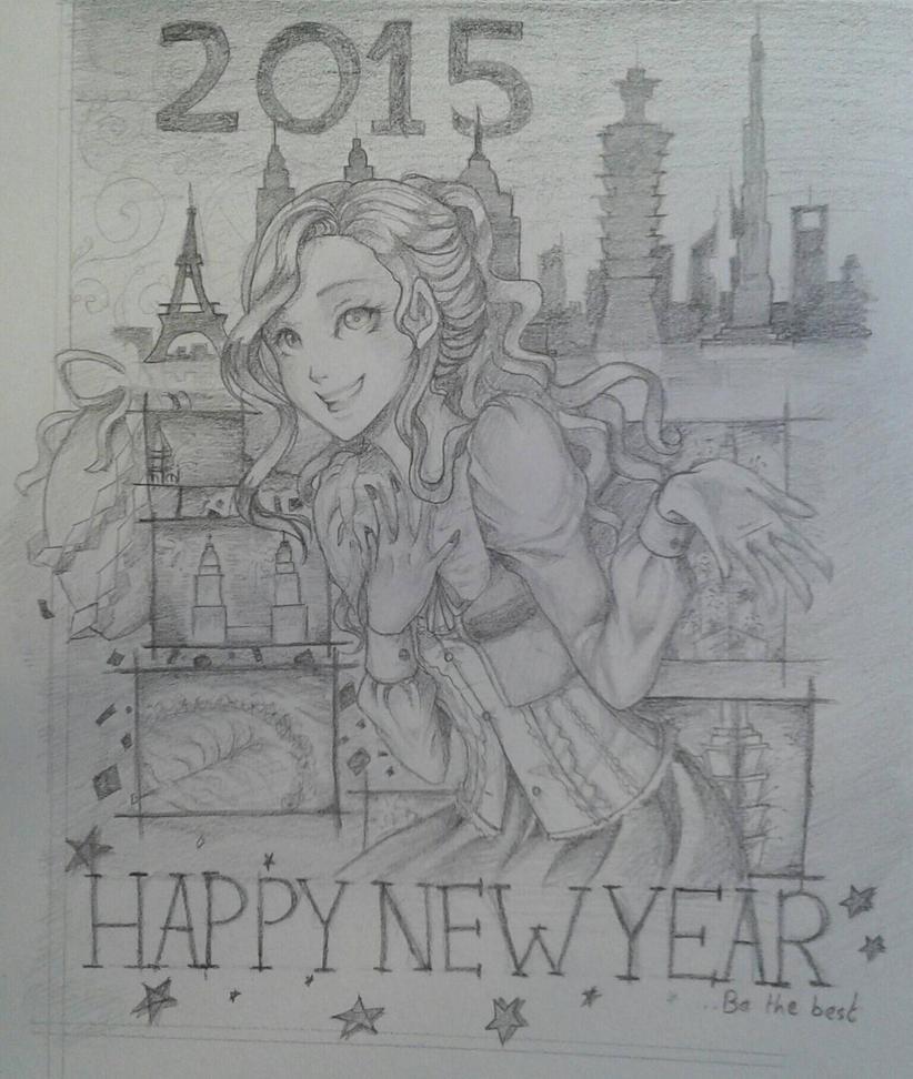 happy new year by Mii-Chiiro