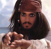 Jack Sparrow on Photoshop by jessicasalehi