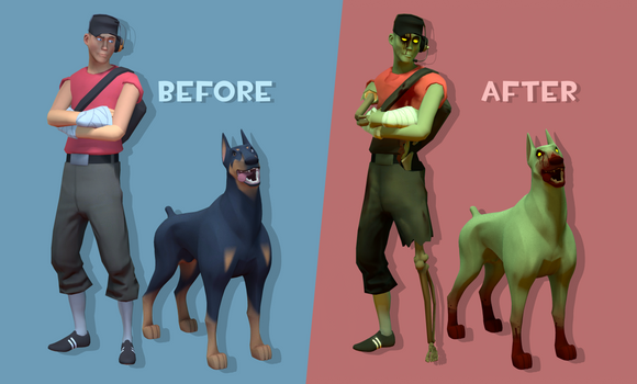 Doggo Zombie Preview by Ritter-draws