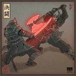 [DOOM Eternal fanart] Duel of Ronins