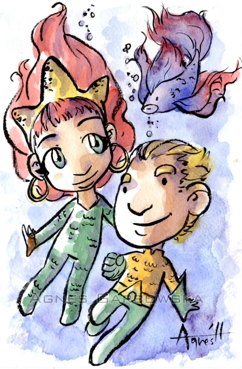 Mera and Aquaman by AgnesGarbowska