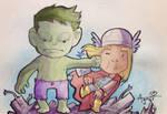 Hulk Punching Thor