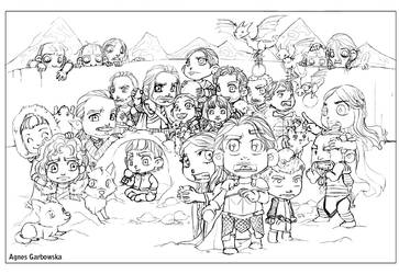 Game of Thrones Winter is Coming Cleaned Pencils