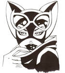 Catwoman BnW