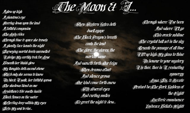 The Moon & I by Draconis Blackthorne