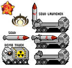 SCUD launcher and demo truck
