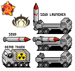 SCUD launcher and demo truck by CarrionTrooper