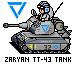 Zaryan TT-43 Tank pixeled