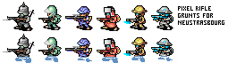 Pixel Rifle Grunts by CarrionTrooper