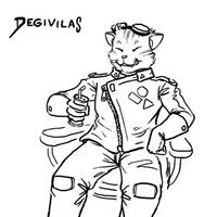Degivilas enjoying space-beer