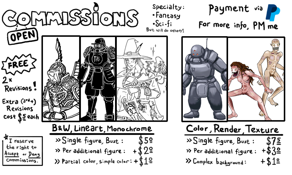 Commission Info 2016 by CarrionTrooper
