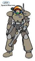 UESF Space Marine w. spacesuit