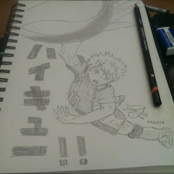 Shoyou Hinata's Spike by eyitzjaytea