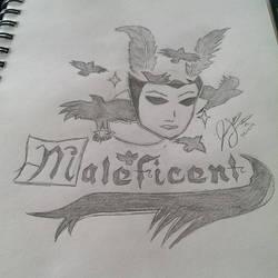 Tattoo Design of Maleficent by eyitzjaytea