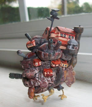 Howl's Moving Castle Polymer Clay