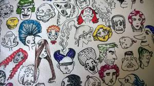 sketchbook doodles - Faces