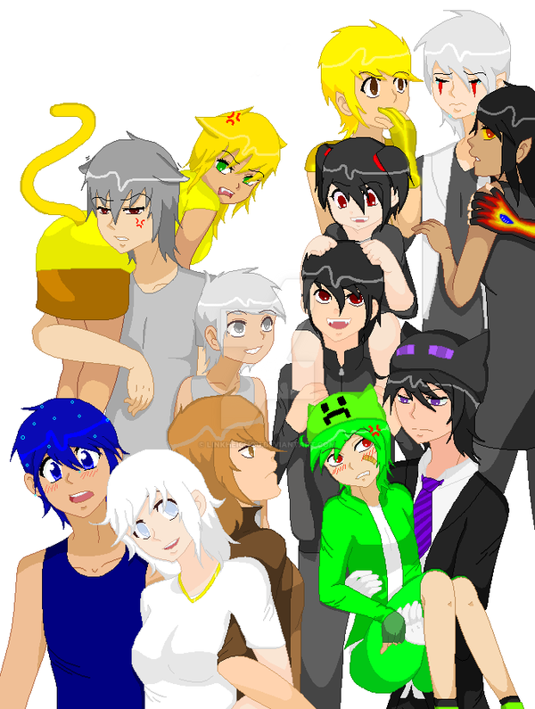 humanized minecraft mobs by moonlightstar77 on deviantart, Skeleton