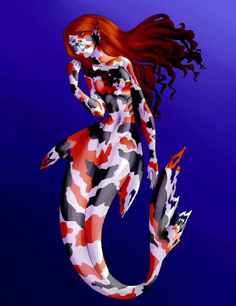 Koi mermaid by ratopiangirl on deviantart for Koi fish tail