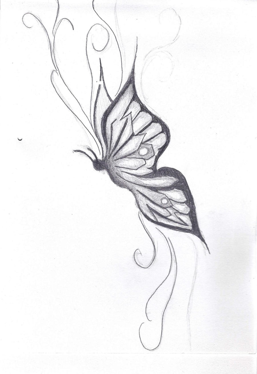 Butterfly Tumblr Drawing