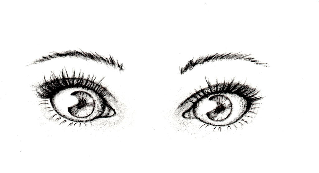 Line Drawing Eye : Two eyes by davvworlds on deviantart