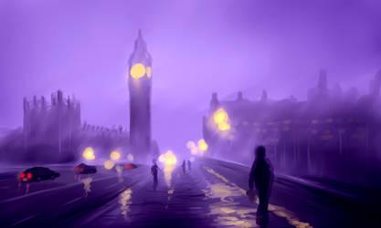 London Rain by davvworlds