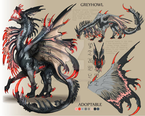 ADOPTABLE Close :GREYHOWL [Auction][paypal]
