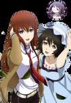Makise Kurisu and Shiina Mayuri render