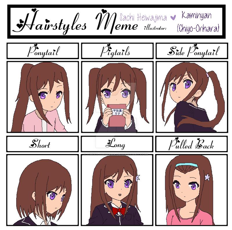 Sachis Hairstyles Meme By Chiyo Orihara On Deviantart