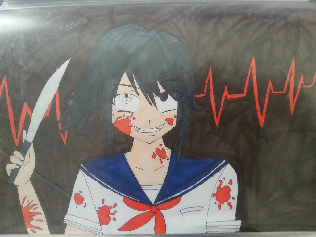 how to draw yandere chan
