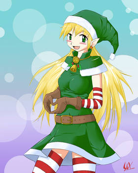 Green Santa girl