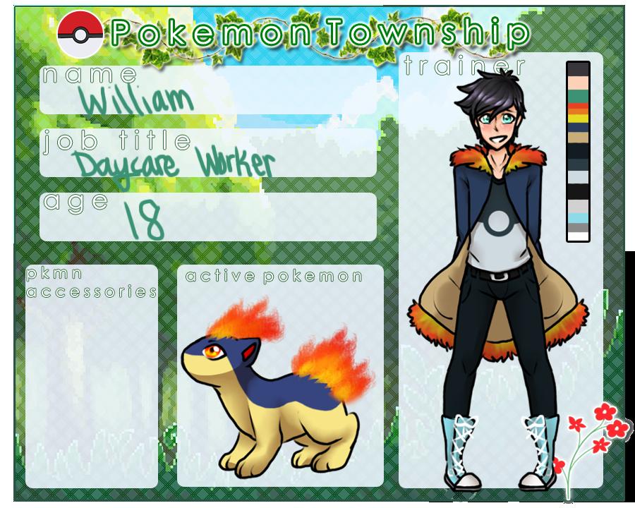 PokemonTownShip Application: William Daycare by DevilsRealm